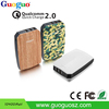 2016 Newest Product Private Label Guoguo Qualcomm Quick Charge 2.0 3USB Smart Power Bank 10400mah for Cellular