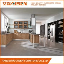 Class Rubber Solid Wood Kitchen Cabinet