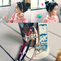 S32153W Girl hair fashion band alloy crown with rhinestone headband summer style children kids hair accessories