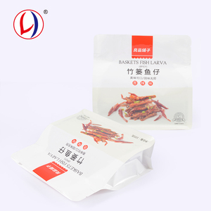 Heat Seal Square Bottom Custom Plastic Bags Logo Printing For Food
