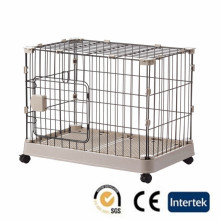 Dog cage with wheels door folding and collapsible cage dog kennel
