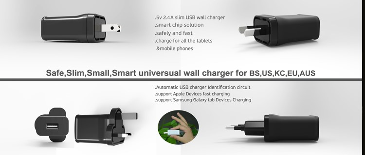 black wall charger