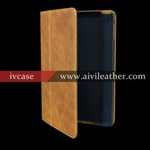 Top Grain Genuine Leather Folio Opening Cover For Ipad Mini 2 Case Leather