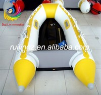 2014 hot sell high quality pvc inflatable motor boat with Aluminum floor