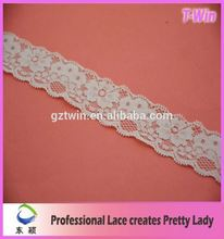4cm elastic lace ribbon for decorative/for ladies underwear