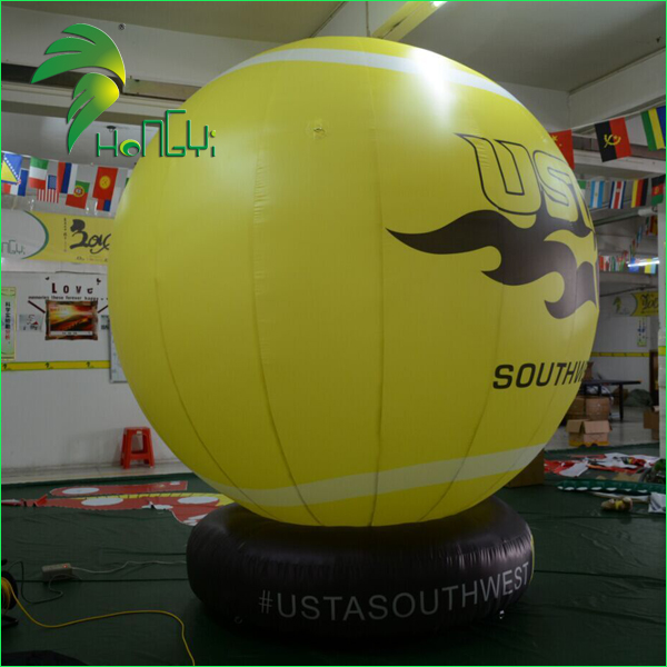 advertising helium balloon with base