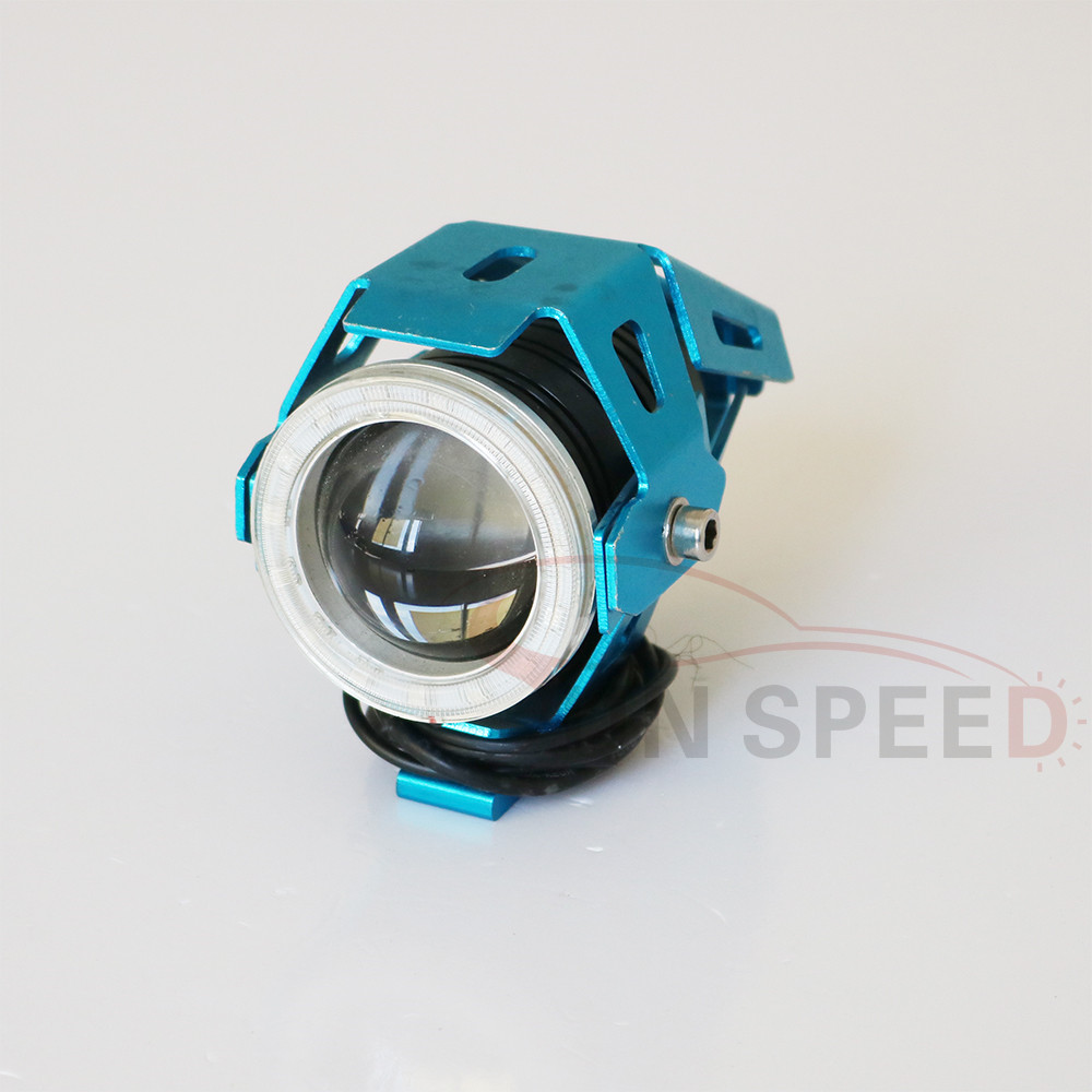Sun-speed 30W U7 motorcycle led driving light with angel eye headlight with angel eyes spot/flood running lights