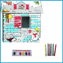 BIG house DIY toy Paperboard doll House assembly house