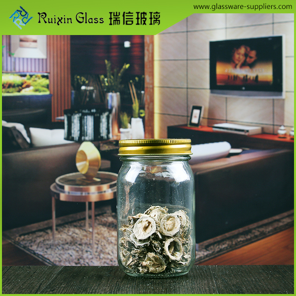 RXCH081 glass jar with metal clip for christmas banquet