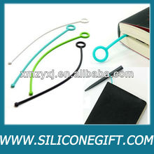 O-ring silicone book page marker/bookmark