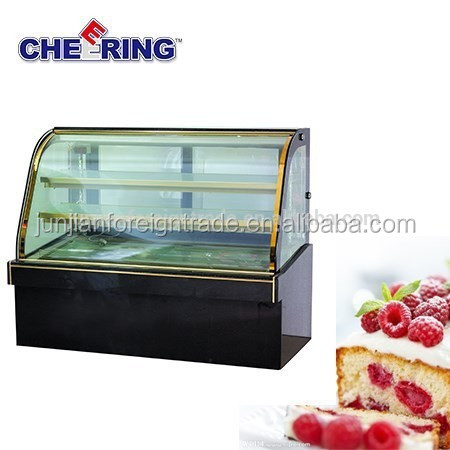 sales well double arc cake showcase commercial glass refrigerator door freezer made in China