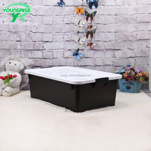 Top Quality Underbed Sorting Containers Black Plastic Storage Box with Lock
