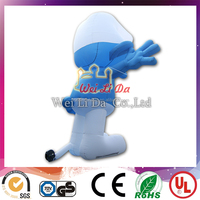 popular inflatable Smurfs cartoon for sale, inflatable Smurfs for advertising