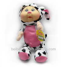 11.5 inch Cow Animal Outfit Baby Doll