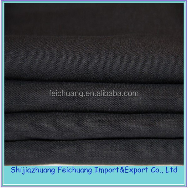cheapest black color 100% cotton calico fabric