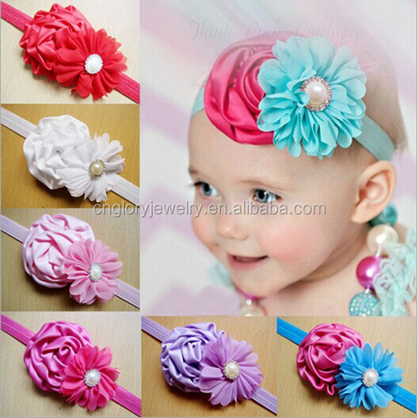 Top baby headband baby amour,beautiful baby flower headband