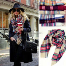20 COLORS!!! High Quality Wrap Shawl Blanket Best Sell Women's Cashmere Large Square Tartan Scarf Wholesale