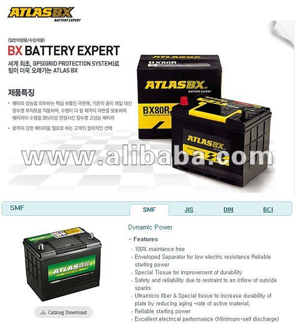 ATLAS-CAR BATTERY-KOREAN BRAND
