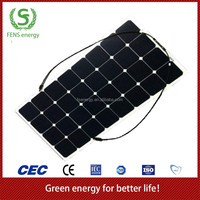 High efficiency flexible solar panel for RV, Marine and Outside activities