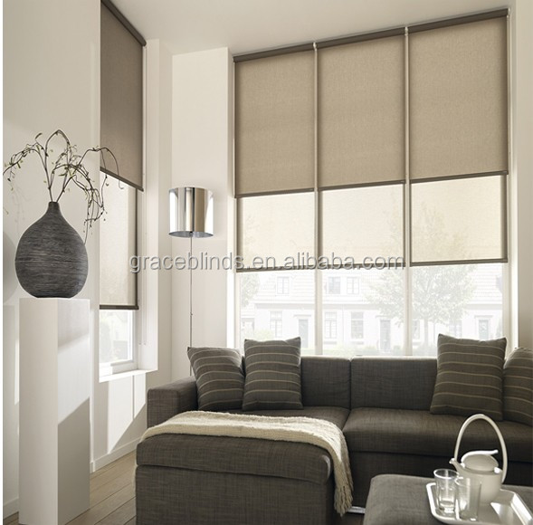 Home Decor Hot Sale Horizontal Electric roller shades waterproof roller blinds
