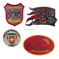 Cheap Embroidered Patches Design Embroidery Logo Biker Patches