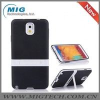 2014 NEW product TPU Gel Stand case for galaxy note 3, for samsung note 3 case made in china