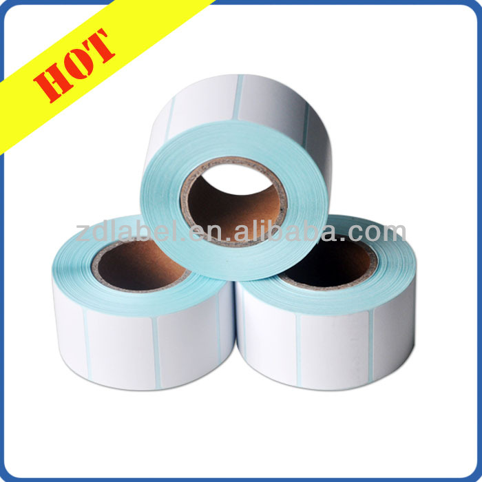 Top Coated thermal paper label compatible zebra printer