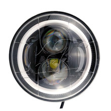 Free shipping sample seven inch round headlight with DOT and E-mark certification led lighting for jeep
