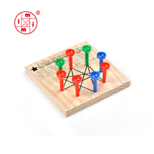 Christmas wooden triangle peg board game