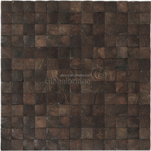 Wholesale coconut shell mosaic tiles wood wall paneling