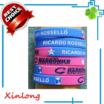 2016 newest fashion debossed silicone bracelet ,personalized silicone bracelets,promotional gifts item