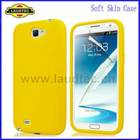2013 Hot Selling Silicone Case For Samsung Galaxy Note 2 Soft Skin Case Cover