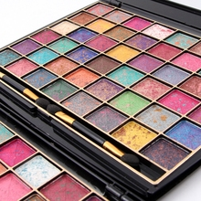 Waterproof 48 Mixed Color Miss Rose Eye Shadow Palette Pure Minerals 3D Delicately Wet Eyeshadow With Brush CA3621