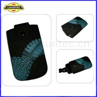 Pull Tab Leather Pouch Case for Apple iPhone 4/4s,with a button in opening,Fast delivery---Laudtec