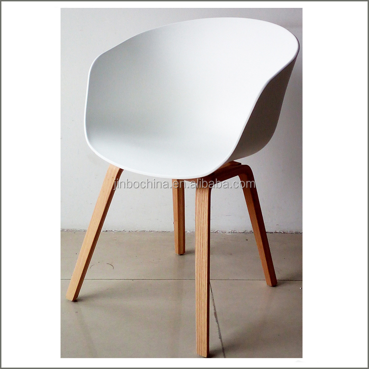 Super low price hot selling plastic dining chair with wooden legs