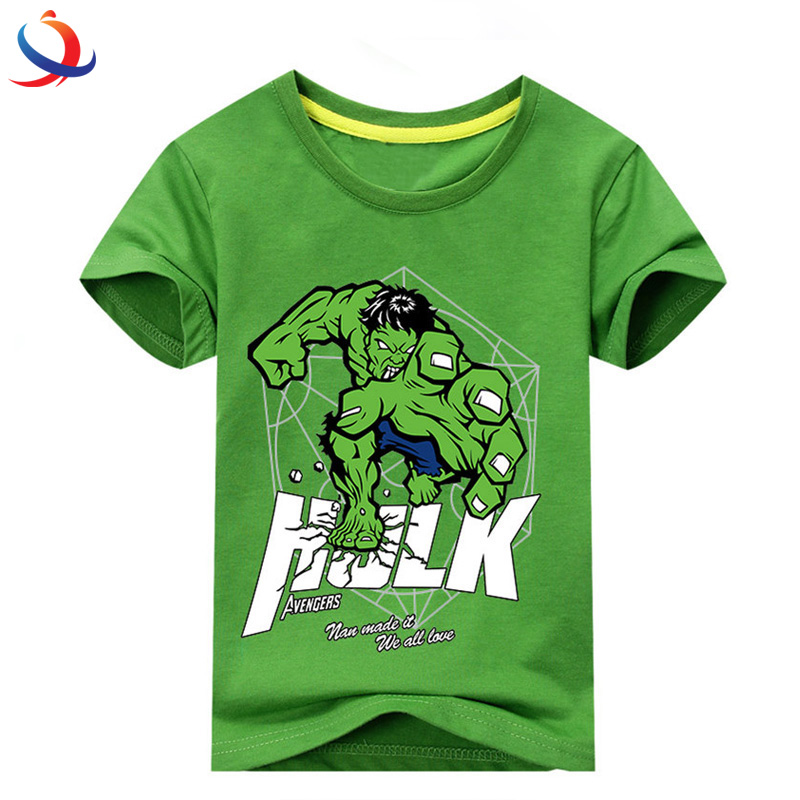Latest Printed T Shirt Designs For Boys Wholesale Kids T-Shirt Apparel