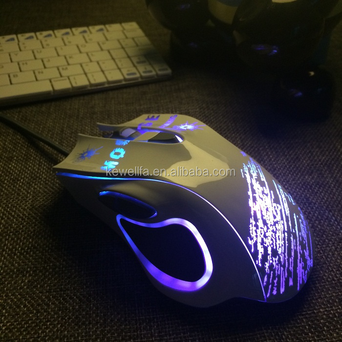 Hot sale customised LED light optical wireless mouse gaming mouse oem computer mouse