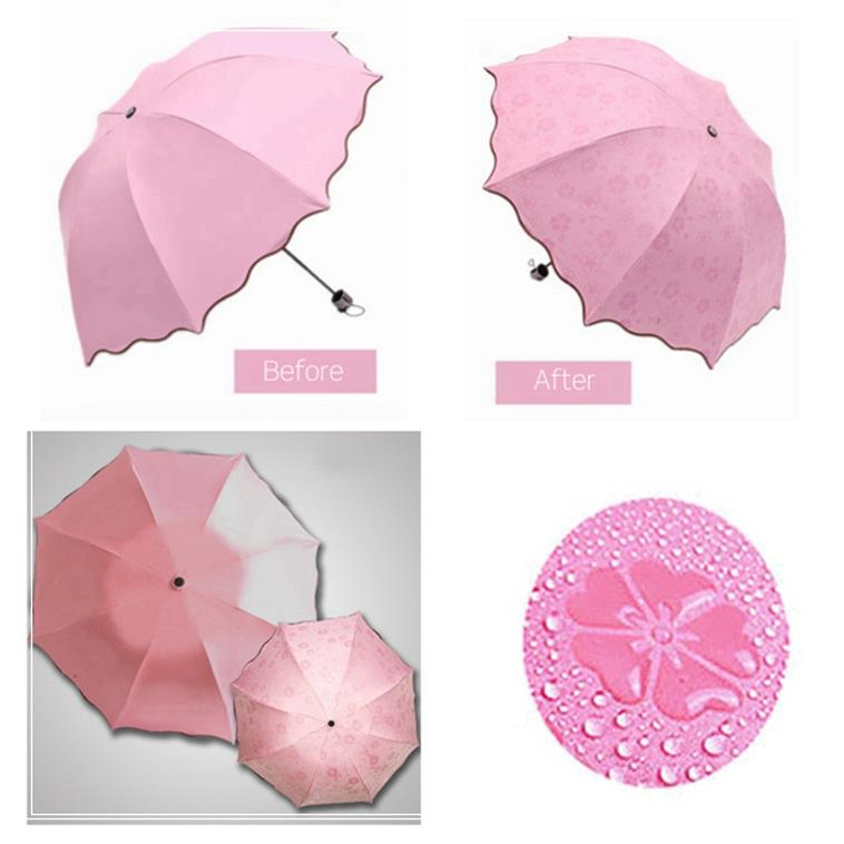 Custom 190T Pongee Double layer Fabric Photo Print Umbrella