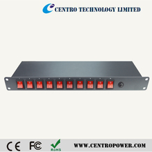19 inch, 10 Outlet 1U Rack Mount PDU /Individual Switches
