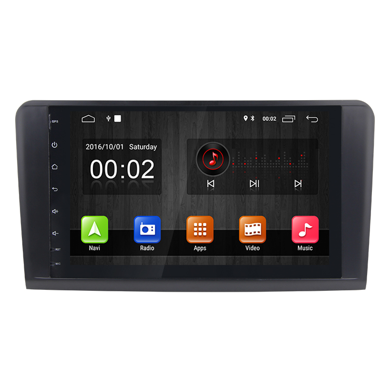 9&quot; Android 8.1 WiFi DAB TPMS OBD GPS car radio multimedia player for Benz ML-class <strong>W164</strong> X164