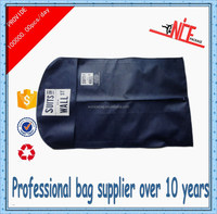 2015 newest style custom reusable non woven garment bag with zip lock