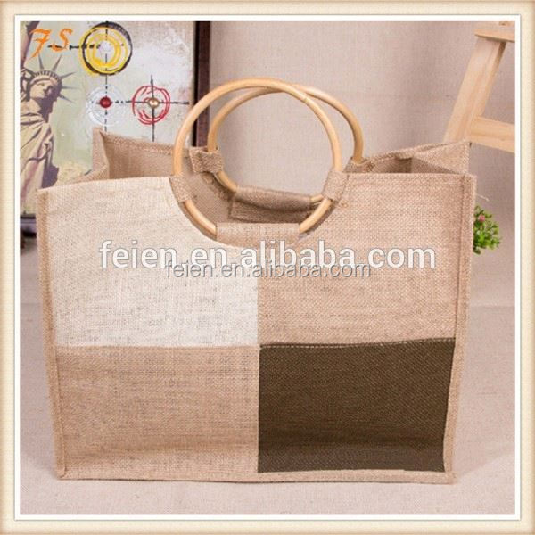 Drawstring jute bags with window