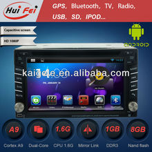 HuiFei Android 4.2.2 for Nissan Navara Touch Screen Car DVD Player with HD 1080P Capacitive Touch Screen support OBD2