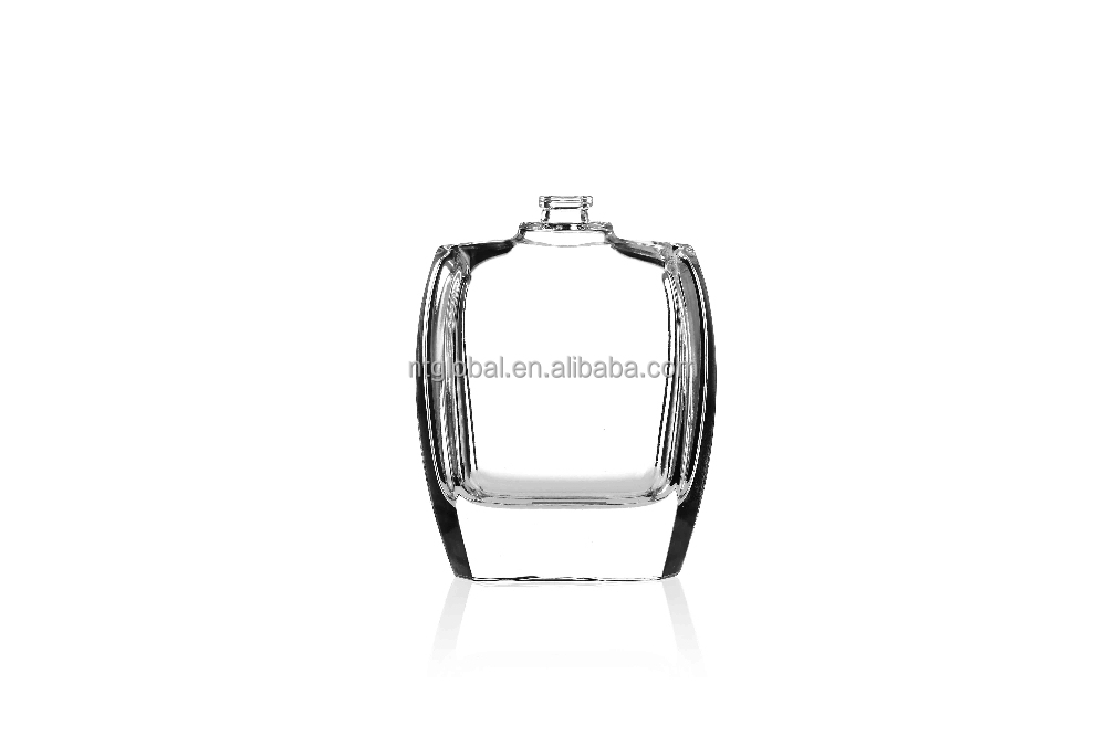 custom design 100ml polygon glass perfume bottle