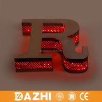 2015 waterproof advertising 3d diy led acrylic backlit channel letter with led light
