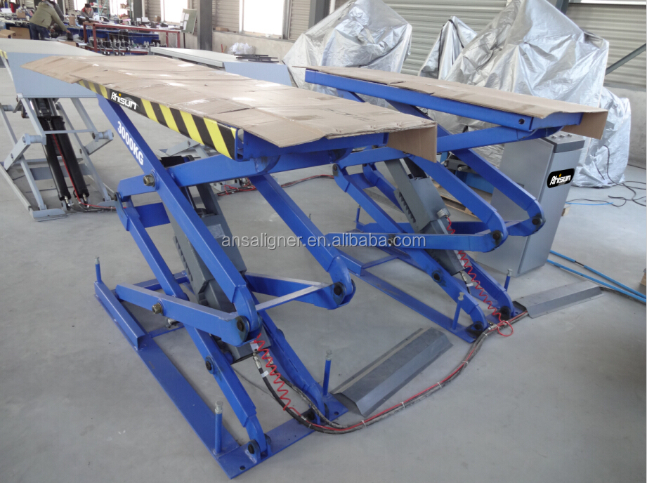 3 ton hydraulic air scissor jack lift with pneumatic lock