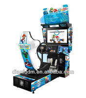 Hot Sale Coin Operated Electronic Mario driving car simulator arcade game machine