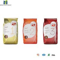 fashion colorful custom food plastic bag side guesset coffee bag