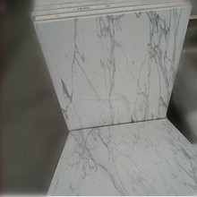 Crystal Composition Calacatta white marble tile, composite marble floor tiles,marble and ceramic composite tile