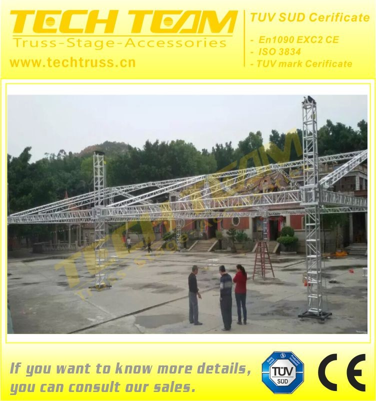Tower lift stage russ system truss tower lifting system for 300mm truss